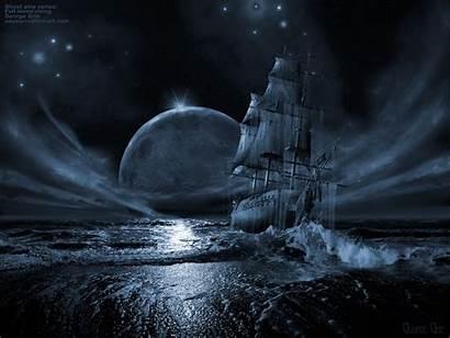 Backgrounds Background Ship Dark Desktop Ghost Moonlight