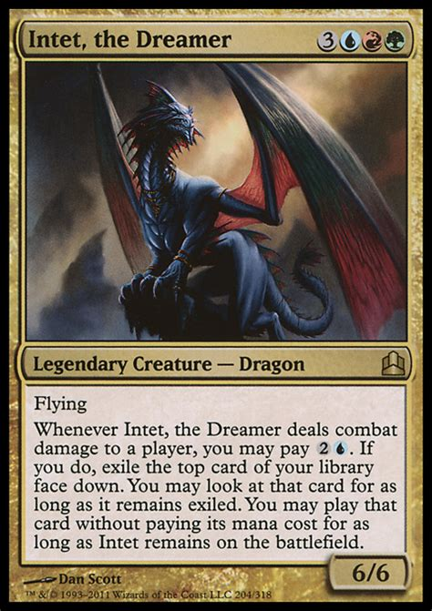 intet the dreamer creature cards mtg salvation