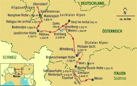 alpenueberquerung von oberstdorf nach meran auf dem  mit