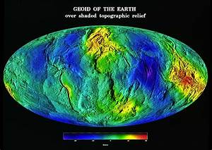 Earth geoid map