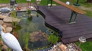Kleiner Gartenteich Anlegen : kleiner koiteich mit eigenbau filter youtube ~ Michelbontemps.com Haus und Dekorationen