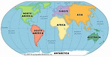 continent: Earth's seven continents - Students ...