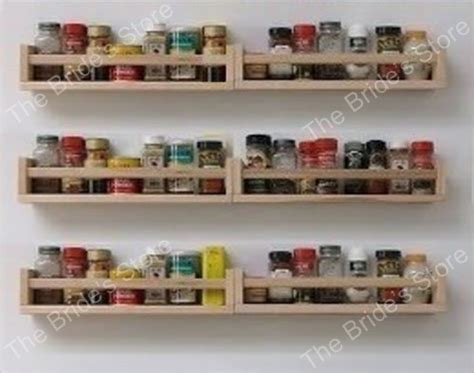 set   ikea spice racks wooden wall shelf craft art book