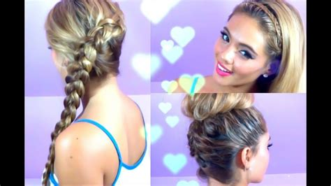 3 Quick And Easy Hairstyles (summer Hair, Braided Hair