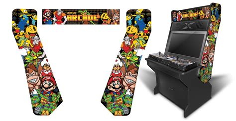 Xtension Arcade Cabinet Graphics by 187 Customer Submitted Arcade Classics 2 Inspired Graphics