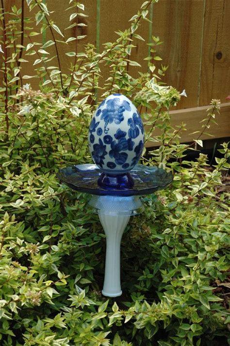 whimsical garden art photograph whimsical egg garden stake