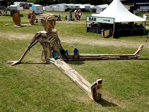 I, Create, Giant, Sculptures, From, Scrap, Wood