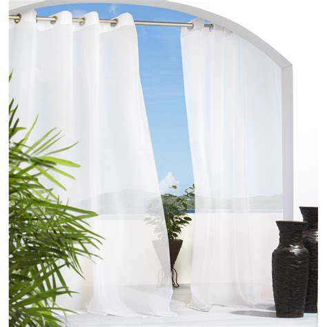 sheer outdoor curtains outdoor decor escape grommet outdoor curtain panel