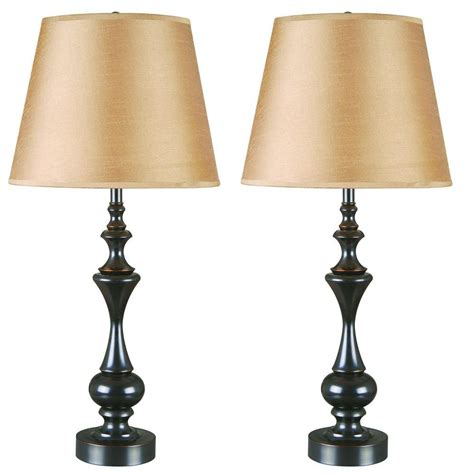 bronze table l set kenroy home stratton ii 28 in oil rubbed bronze table
