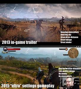 The Witcher 3 Gameplay Reveal 2013 Trailer Versus 2015