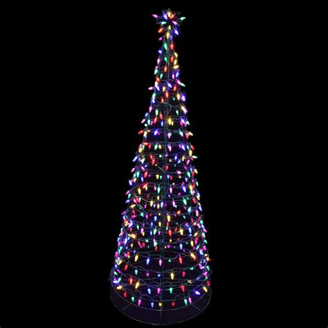 christmas lights journal star home accents 6 ft pre lit led tree sculpture with