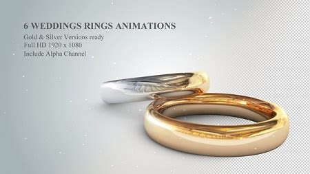 videohive 6 3d wedding rings animations 19774796 after effects