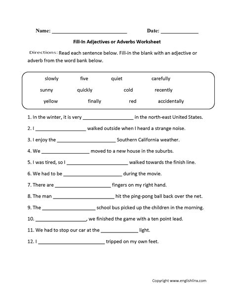 14 best images of adjectives worksheets for grade 5 as