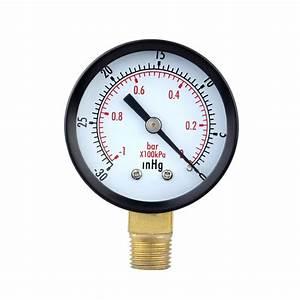 Mini Dial Air Vacuum Pressure Gauge Scale Black Hp