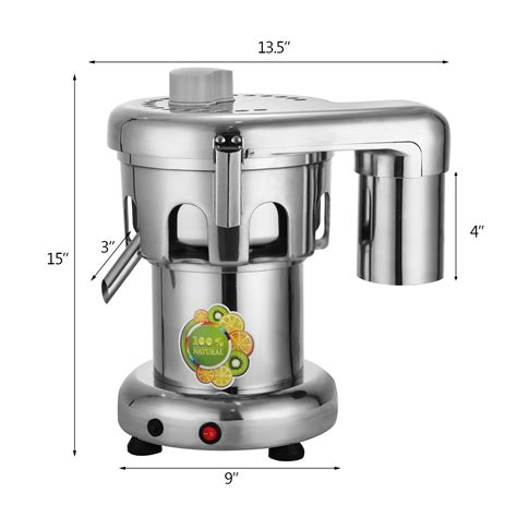 extractor juice vevor professional juicer commercial duty heavy stainless steel centrifugal 370w capacity machine 176lbs hr appliances