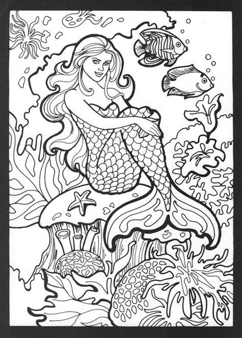 mermaid coloring pages    print