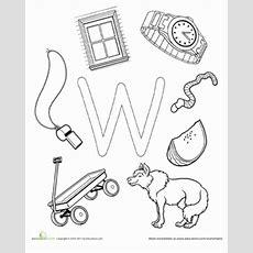W Is For  Worksheet Educationcom