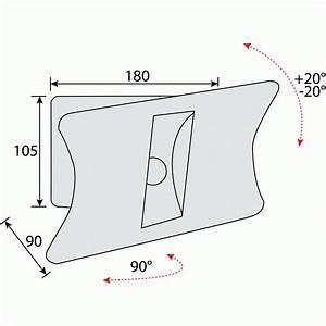 Petite Tv Ecran Plat : support mural pour cran plat de petite taille 1 axe de rotation bricozor bricozor ~ Nature-et-papiers.com Idées de Décoration