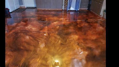 Garage floor transformation   Metallic Epoxy Floor