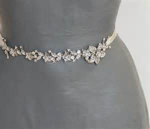 bridesmaid dress belts bridal sash wedding floral sash bridal dress sash belt narrow wedding sash antique silver