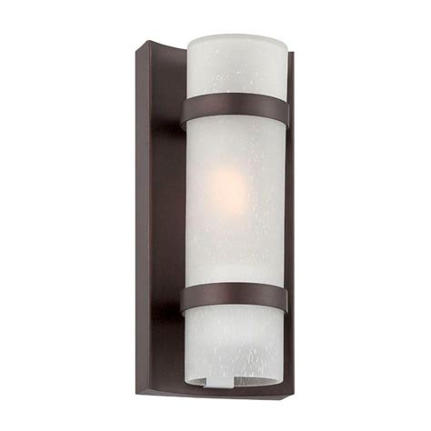 acclaim lighting apollo collection 1 light architectural bronze outdoor wall light fixture