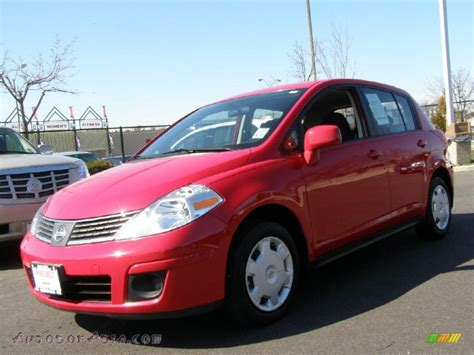 red nissan versa 2009 nissan versa 1 8 s hatchback in red alert photo 6