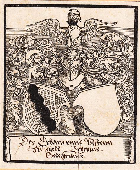 selbstklebende bordüre hält nicht exlibris michael behaim 1459 226 1511 handelsherr ratsherr und baumeister sebald behaim
