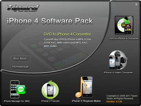 iphone 4 software update tipard iphone 4 software pack screenshot x 64 bit