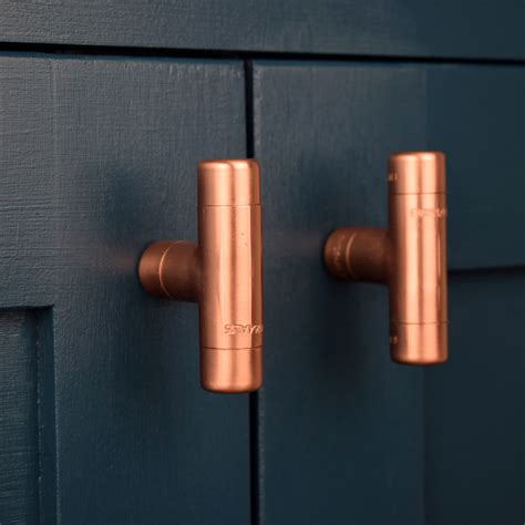 hammered cabinet pulls brushed modern copper t knob contemporary drawer pull handle
