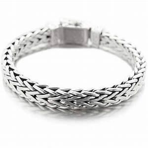 Bracelet En Argent Homme : bracelet gourmette large serpent rectangle en argent massif mylittlefantaisie ~ Carolinahurricanesstore.com Idées de Décoration