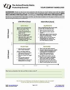 Manage Your Time With The Priority Matrix Template