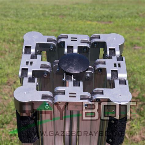 gazebo rapido gazebo rapido 3x3 alluminio nero exa 55mm con finestre
