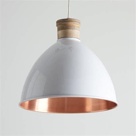 white pendant light white and copper pendant lights