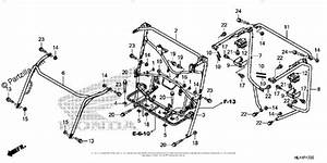 Honda Side By Side 2016 Oem Parts Diagram For Roll Bar