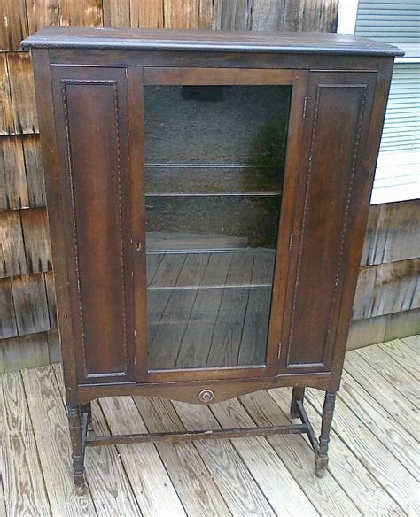Ebay China Display Cabinet by Antique China Cabinet Display Case Walnut Old Original
