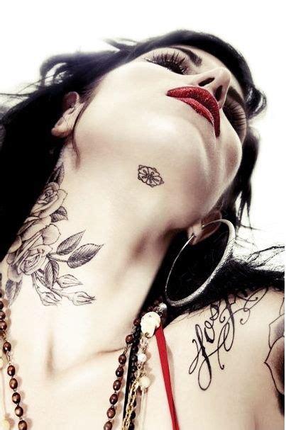 love  tattoo location   neck   chin