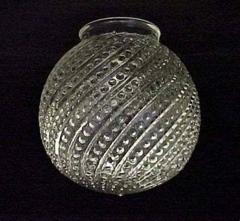 clear glass ball light shade beaded  swirled globe