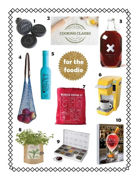 holiday gift guide for the foodie for the traveler