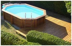 Liner Piscine Octogonale : piscine en bois en kit 502 303 au meilleur prix ~ Melissatoandfro.com Idées de Décoration