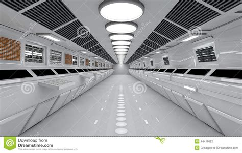 z space interior design spaceship interior center view with floor stock