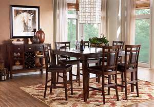 5 dining room sets riverdale cherry 5 pc square counter height dining room padded chairs transitional