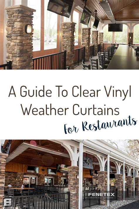 clear vinyl weather curtains guide part two restaurants