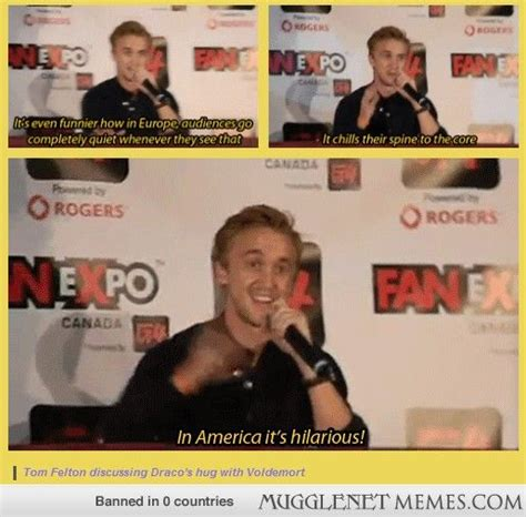 Mugglenet Memes Com - tom discusses how draco s hug with voldemort is received in different regions harry potter