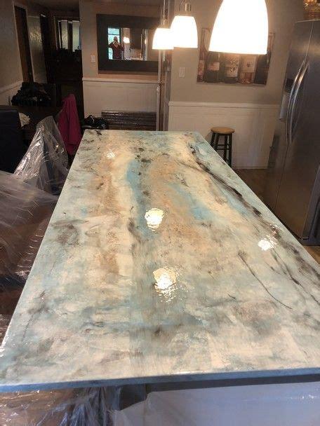 metallic epoxy countertop kit concrete kitchen diy