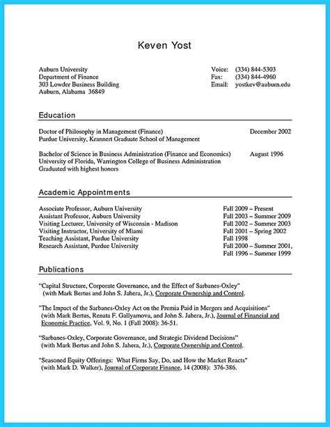 appealing formula  wonderful business administration resume