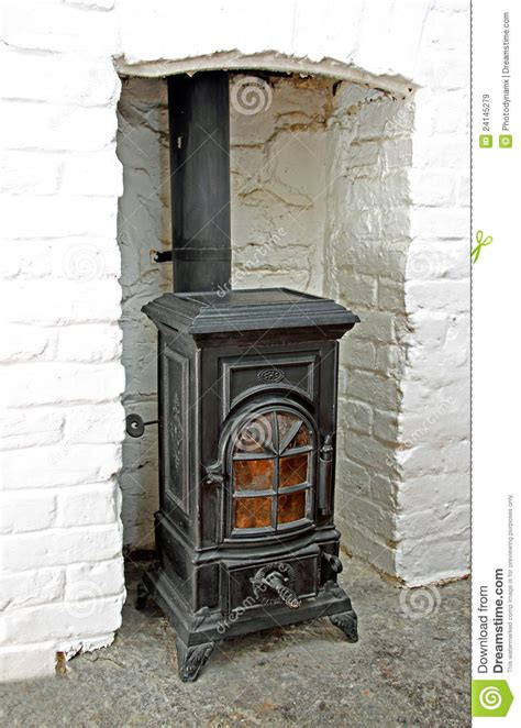 Victorian Wood Burning Stove Stock Image   Image of