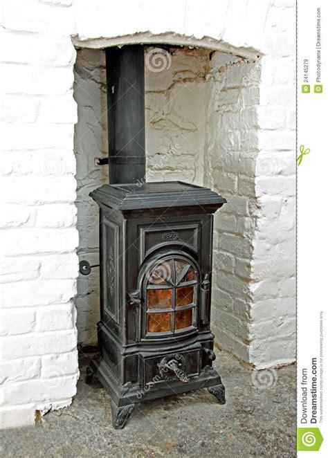 Victorian Wood Burning Stove Stock Image   Image of