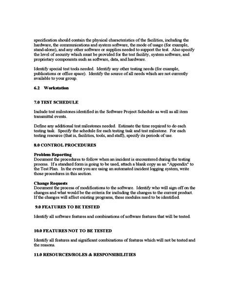 sle test plan template free