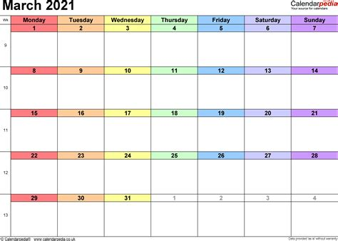 calendar march uk bank holidays excelpdfword templates