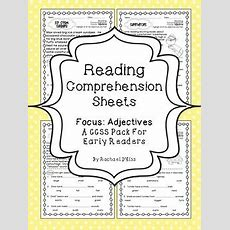 Reading Comprehension Sheets Adjectives {15 Passages For Early Readers}